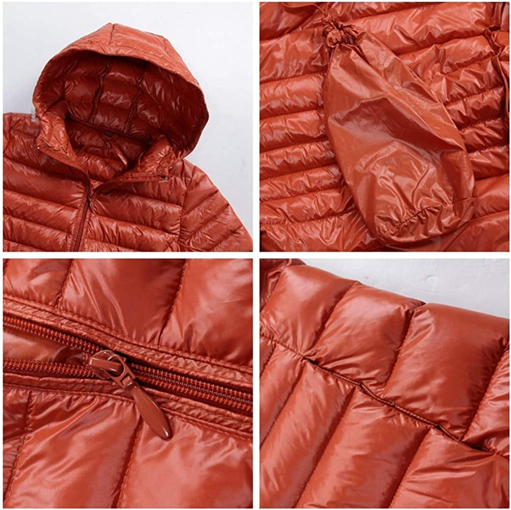 6XL 7XL 8XL Taille Plus Manteau Femme Long Hiver Ultra LéGer vers Le Bas Veste à Capuche Femmes Feather Veste Manteau Chaud Kaki