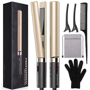 Amazon.com: Plancha plana para el cabello, alisador de pelo ...