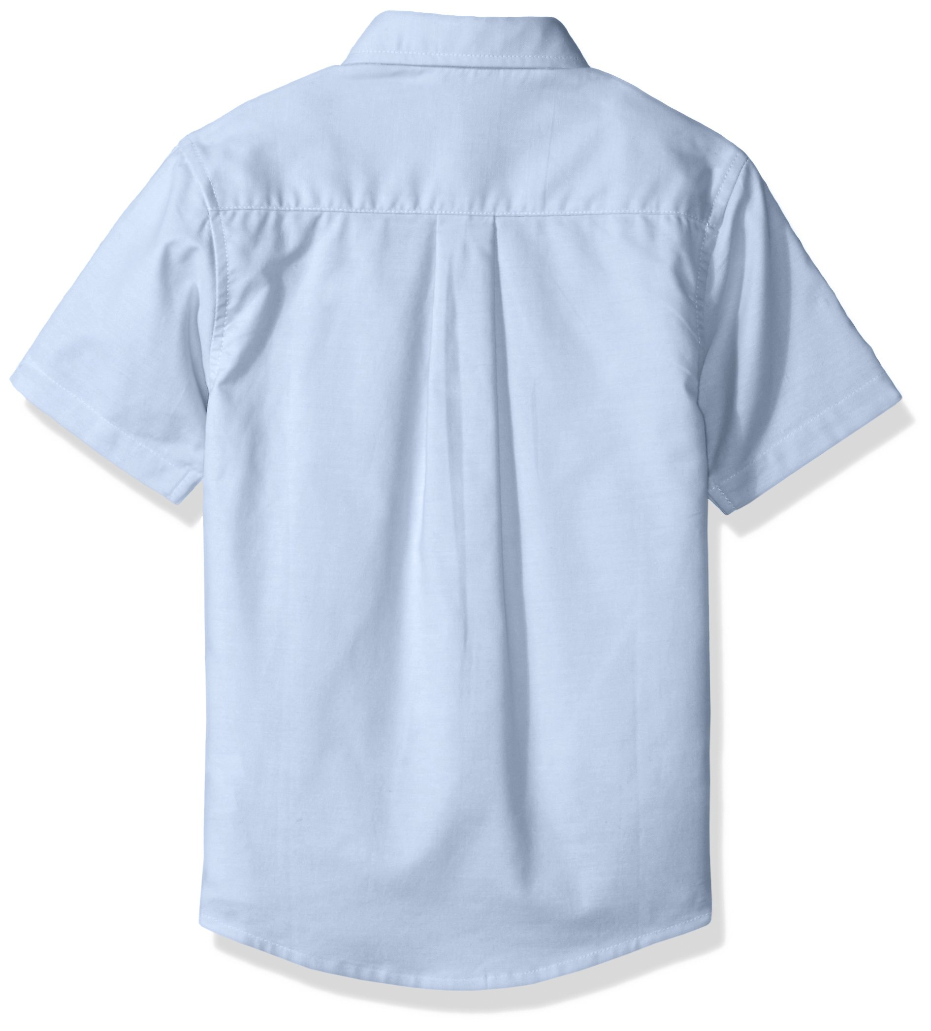 French Toast Boys' Toddler Short Sleeve Oxford Shirt, Light Blue, 3T by French Toast (Image #2)