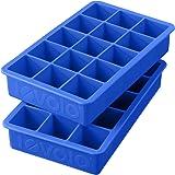 Tovolo Perfect Cube Ice Trays, Capri Blue - Set of 2