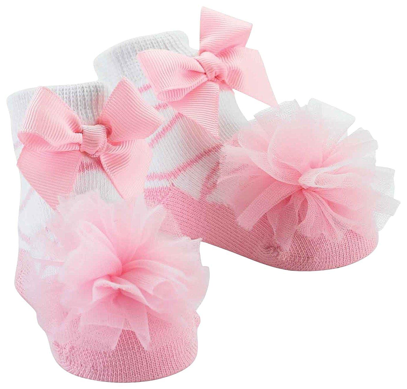 Mud Pie Baby-Girls Newborn Sock Pink Tulle 0-12 Months Mud Pie - Clothing 171964
