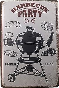 AIQIBAO Metal Vintage Tin Sign Decor-Barbecue Party for Home Bar Pub Shop Funny Retro Wall Art Sign 12