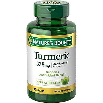 Nature S Bounty Turmeric Curcumin Mg Value Size  Count