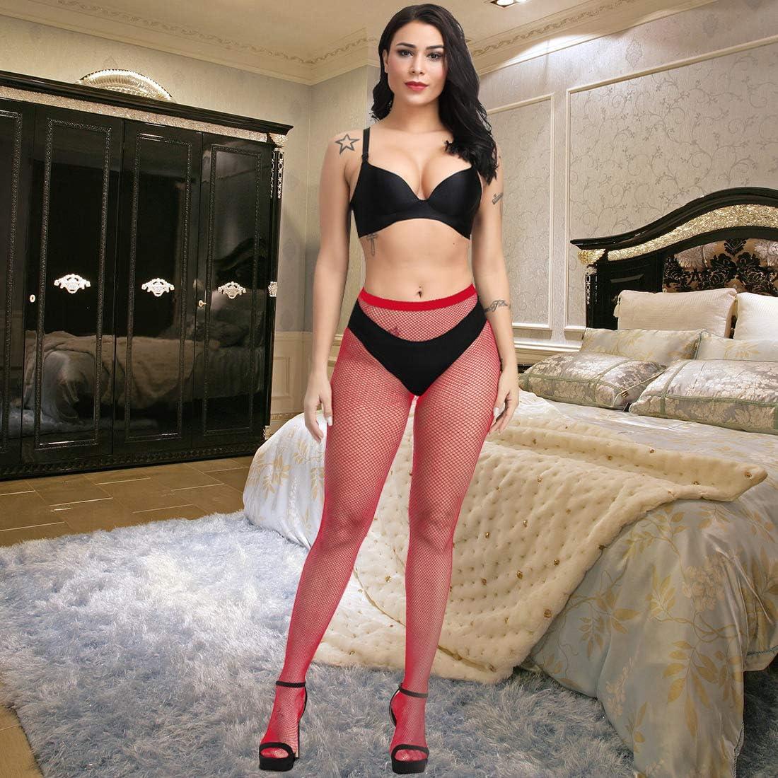 Fafulan High Waist Tights Fishnet Stockings Thigh High Stockings Pantyhose