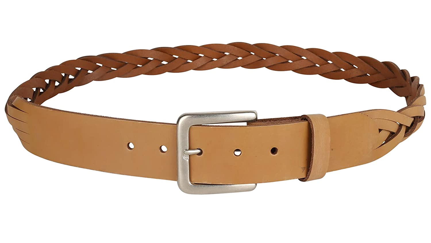 Men/'s Woven Cowhide Top grain Braided Leather Dress Belt Made In USA