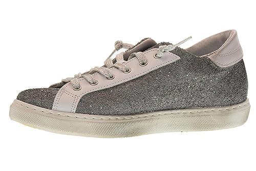 2 STAR Scarpe Donna Sneakers Basse 2SD 1865 Grigio  Amazon.it  Scarpe e  borse c82494a35e3