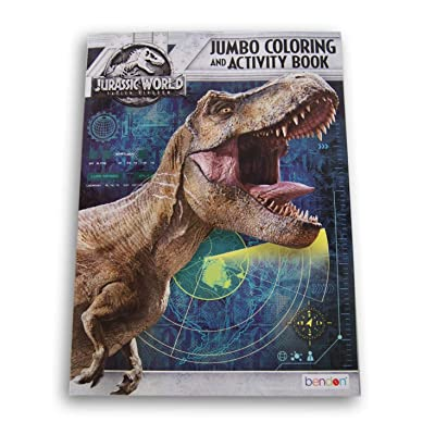 Lazy Days Jurassic World Jumbo Coloring and Activity Book - 64 Pages: Toys & Games