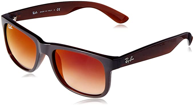 b3ba3168afb8e Image Unavailable. Image not available for. Color  Ray-Ban Men s Justin  Non-Polarized Iridium Rectangular Sunglasses ...