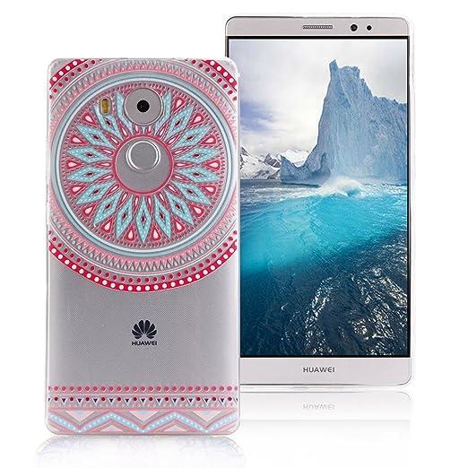5 opinioni per Cover Huawei Mate 8 AllDo Custodia in Silicone Gomma Cover Trasparente Soft Slim