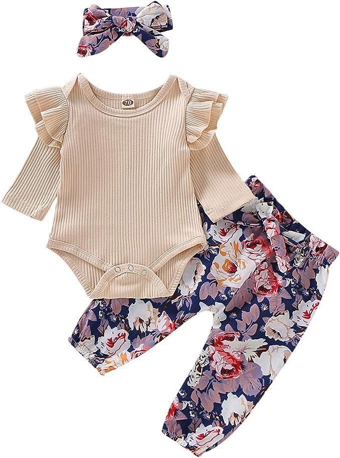 Amazon.com: Conjunto de ropa de bebé recién nacido, de manga ...