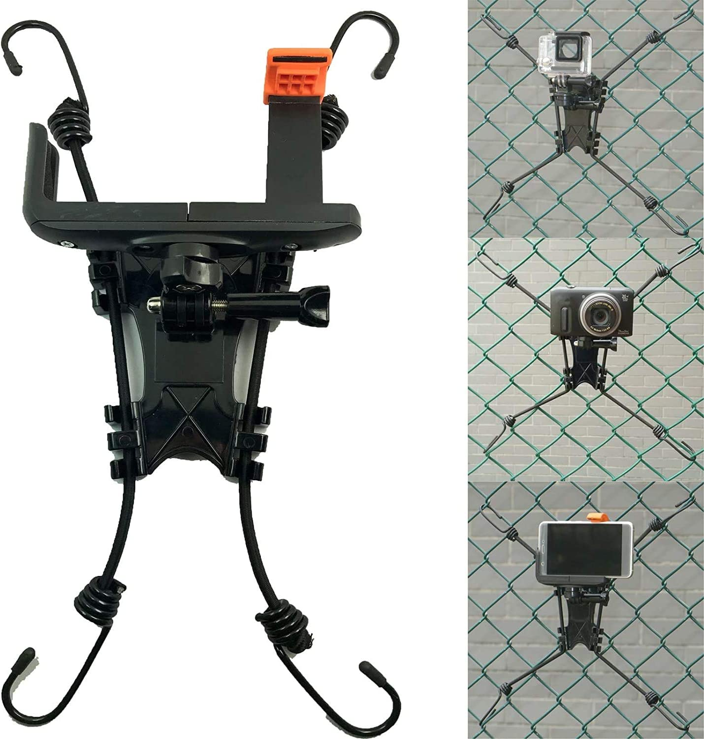 Universal Action Camera Backstop Chain Link Fence Mount for Action Camera/Digital Camera/Smartphone for School Training and Outdoor Sports.for Record a Baseball or Softball Game