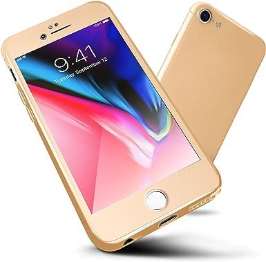 Funda iPhone 6s/6, ORETech Carcasa iPhone 6/6s Case Cover 360 Grados con [2- Pack Transparent Protector de Pantalla de Vidrio Templado][Ultra-Delgado] [Ligera] Case iPhone 6/6s -4.7 Pulgada - Oro: Amazon.es: Electrónica