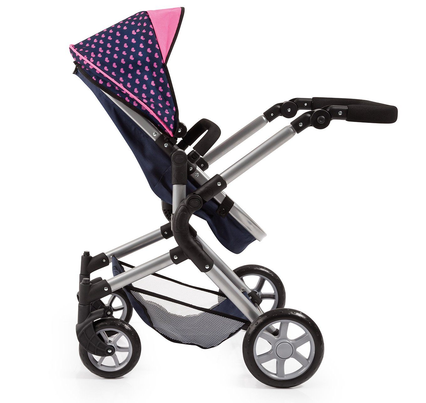 Bayer Design 18154AA City Neo Dolls Pram with Changing Bag, Blue/Pink by Bayer (Image #5)