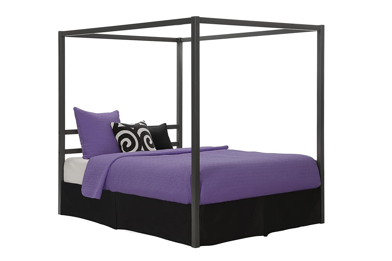 Modern Four Poster Bed Canopy Queen Size Furniture Bedroom ...