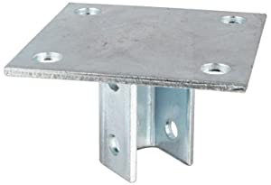 """Morris Products 17452 Post Base Single Channel, 4 Hole, Standard, 3-1/2"""" Channel"""