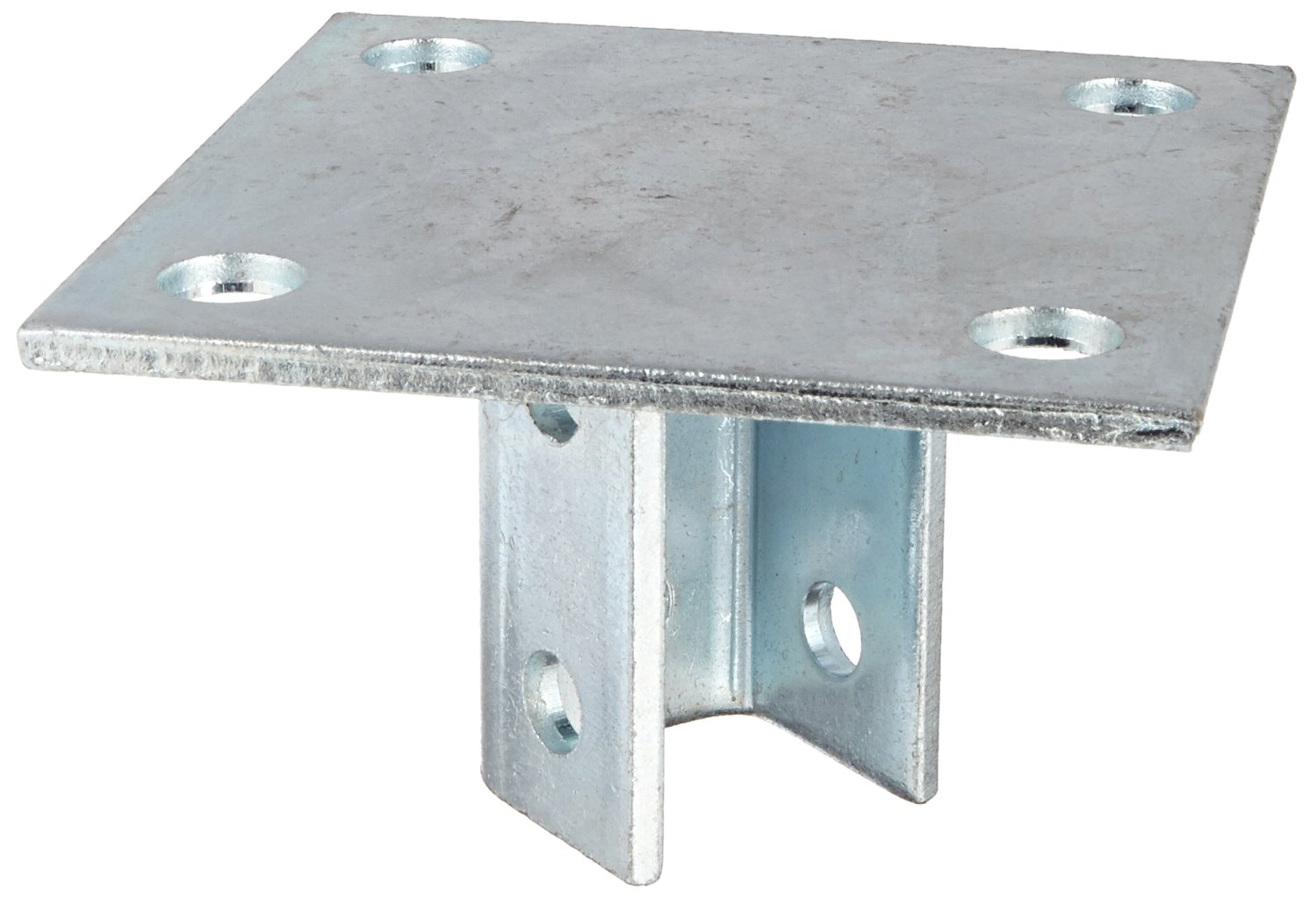 Morris Products 17452 Post Base Single Channel, 4 Hole, Standard, 3-1/2'' Channel