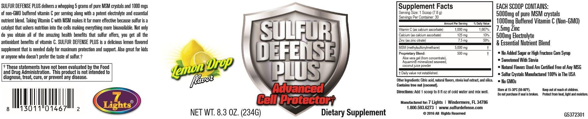 Sulfur Defense Plus (Organic Sulfur & Vitamin C) (3 Pack Special)