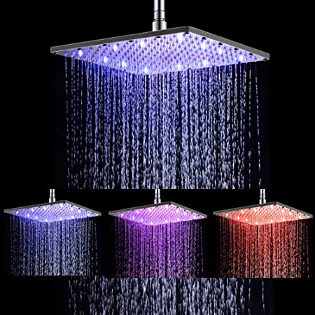 Colorful LED Water Faucet 3Color Changing Multi-angle Temperature Control  Tool