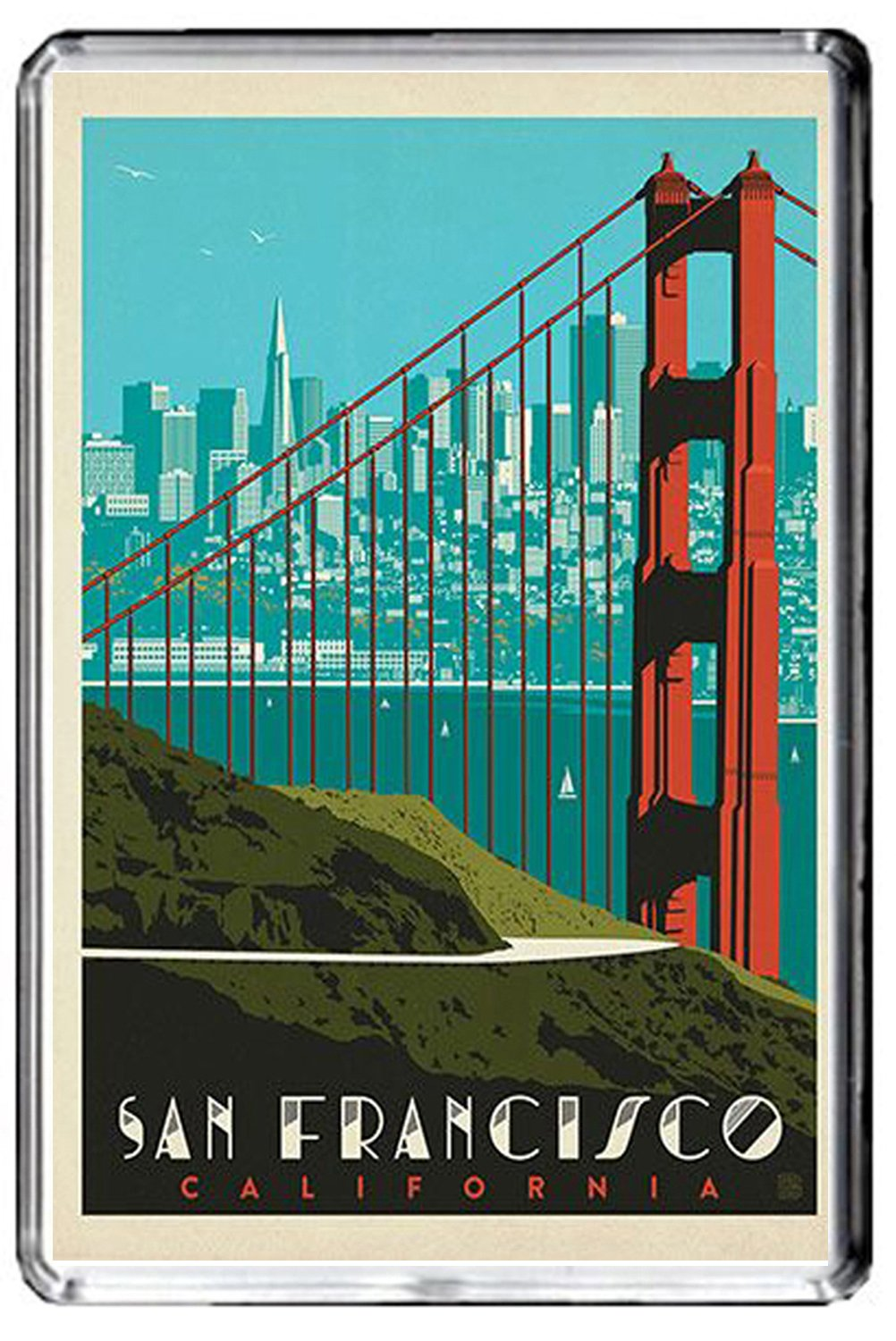 F098 SAN Francisco Fridge Magnet USA Vintage Travel Photo Refrigerator Magnet GIFTSCITY