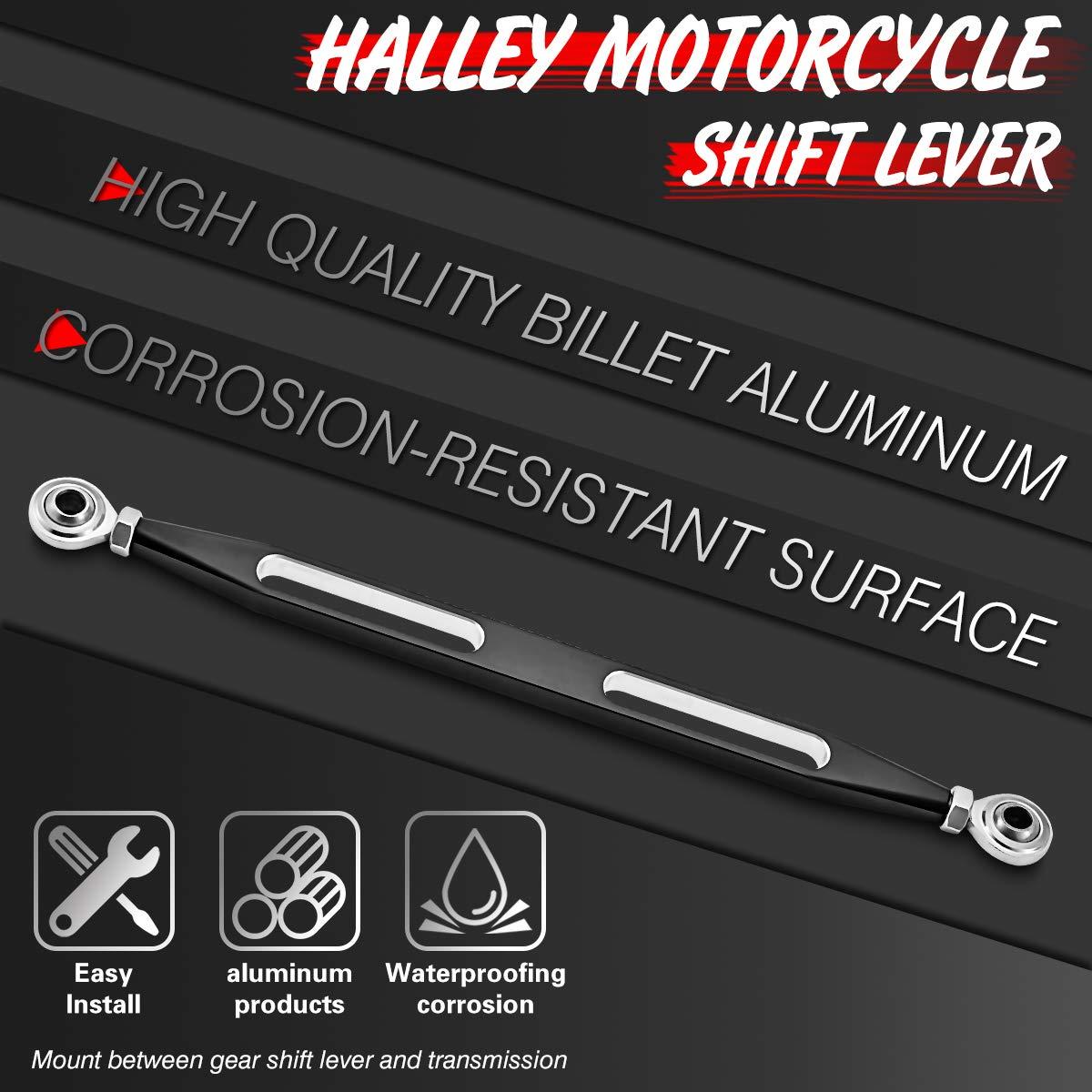 Vendaje de Cambio de Corte Profundo CNC para Harley Davidson Electra Street Tour Glides Trikes 1980-2017 Corte Profundo, Negro KaTur
