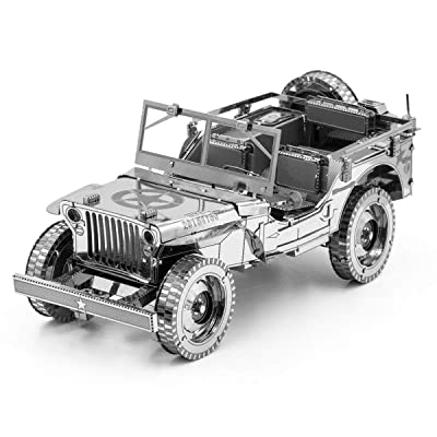 Fascinations Metal Earth ICONX Willys MB 3D Metal Model Kit: Toys & Games