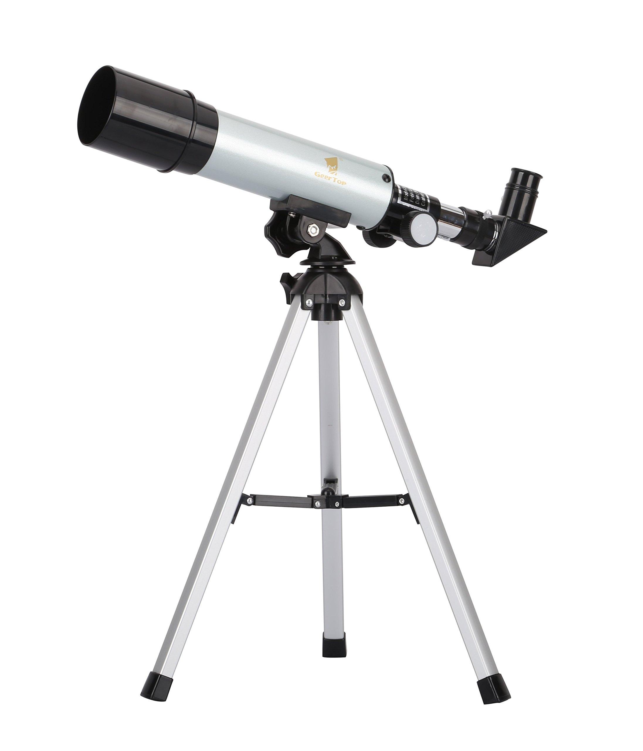 GEERTOP 90X Portable Astronomical Refractor Tabletop Telescope, 360X50mm, for Kids Sky Star Gazing & Birds Watching
