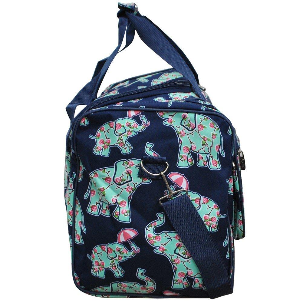Baby Elephant Umbrella Print NGIL Canvas Carry on Shoulder 23 Duffle Bag