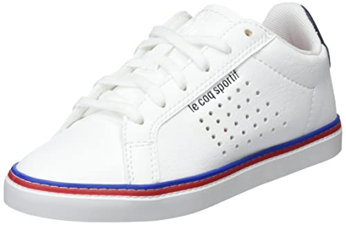 meilleure qualité meilleur fournisseur site web pour réduction Le Coq Sportif Courtace GS Sport Optical White/Dress BL, Baskets Mixte  Enfant