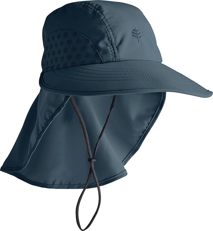 Coolibar UPF 50+ Kids' Explorer Hat - Sun Protective (Small/Medium- Midnight)