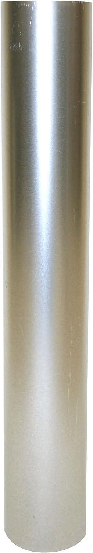 Kamino - Flam – Tubo para chimenea (Ø 130 mm/longitud 750 mm), Tubo para estufa de leña, Conducto de humos – acero resistente a altas temperaturas – durable, estable – plata
