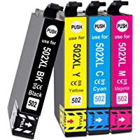 Teland 502XL Cartuchos de tinta de repuesto Epson 502XL compatibles con Epson Expression Home XP-5100, Impresora XP-5105…