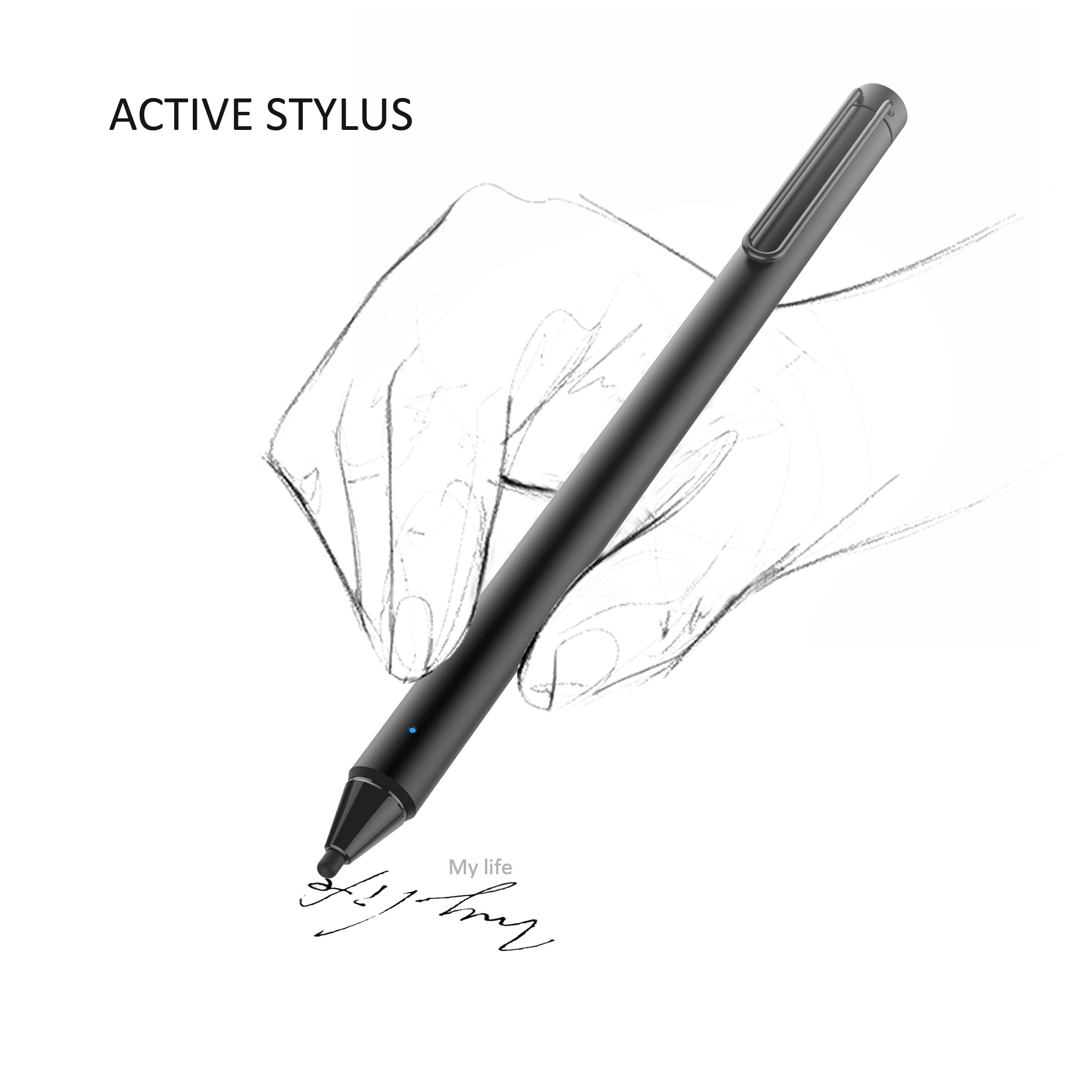 FENTAC Active Stylus Pen 2.4 mm Fine Point Fiber Tip for Touch Screen Devices(Black) by Fentac (Image #8)