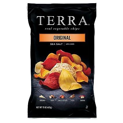 Terra Original Real Vegetable Fichas, sal de mar, no Gmo, 15 ...
