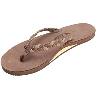 512ee750f8a463 Rainbow Sandals Women s Single Layer Premier Leather w Double Braided Strap  Expresso Dark Brown