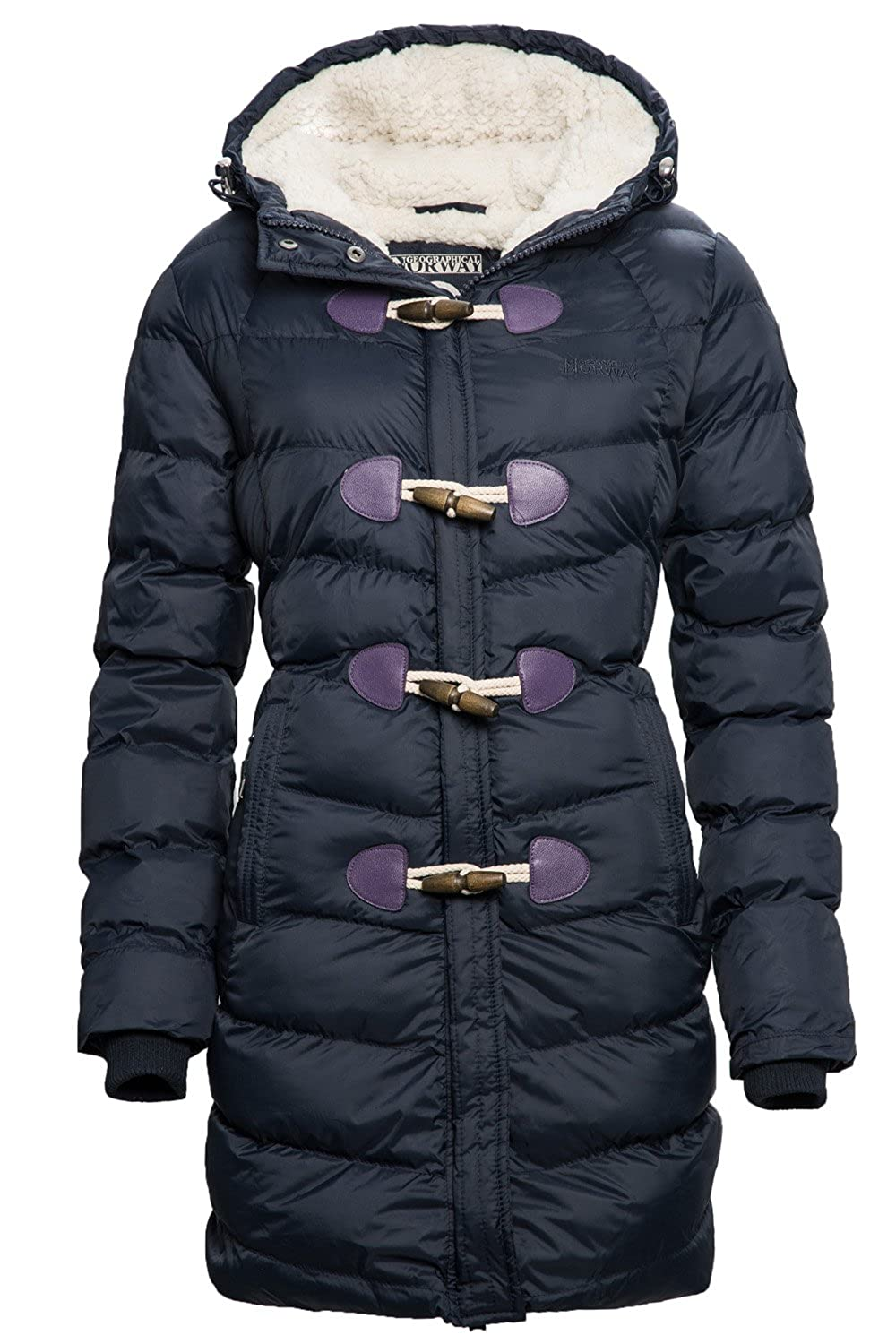 Geographical Norway Beverly Damen Winter Jacke Parka Duffle Mantel Teddyfell