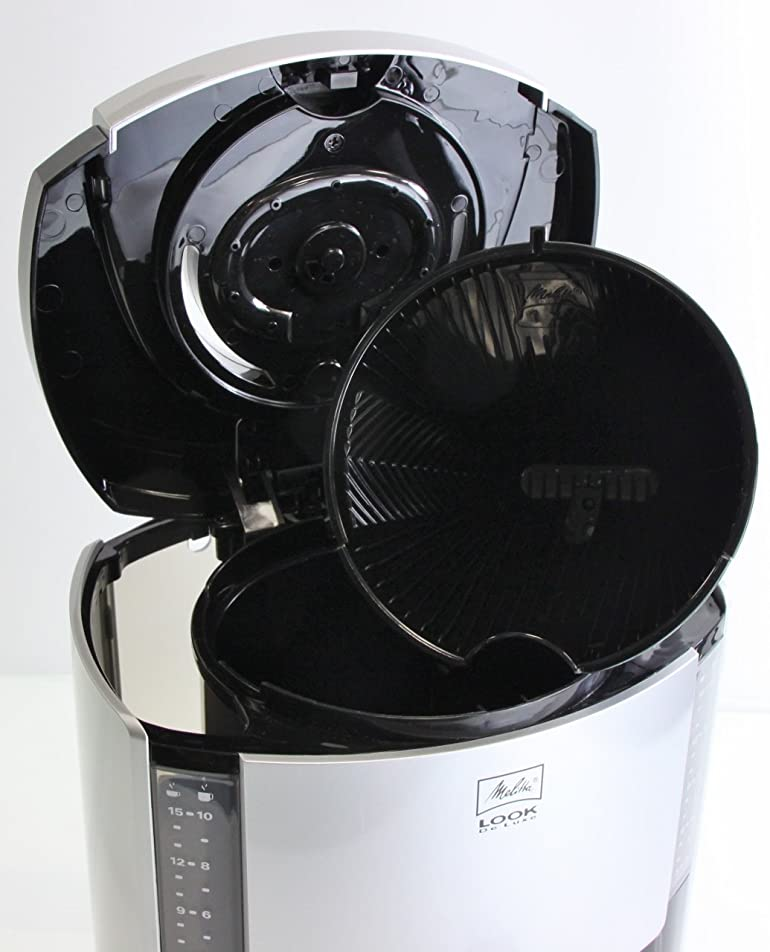 Melitta Look Deluxe Filter Coffee Machine, Black/ Silver: Amazon ...