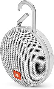 JBL 6925281933073 Clip 3 Wireless Portable Bluetooth Speaker, White