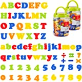MADHOLLY 156 Pieces Magnetic Letters and Numbers - Educational Refrigerator Alphabet Number Magnets for Kids