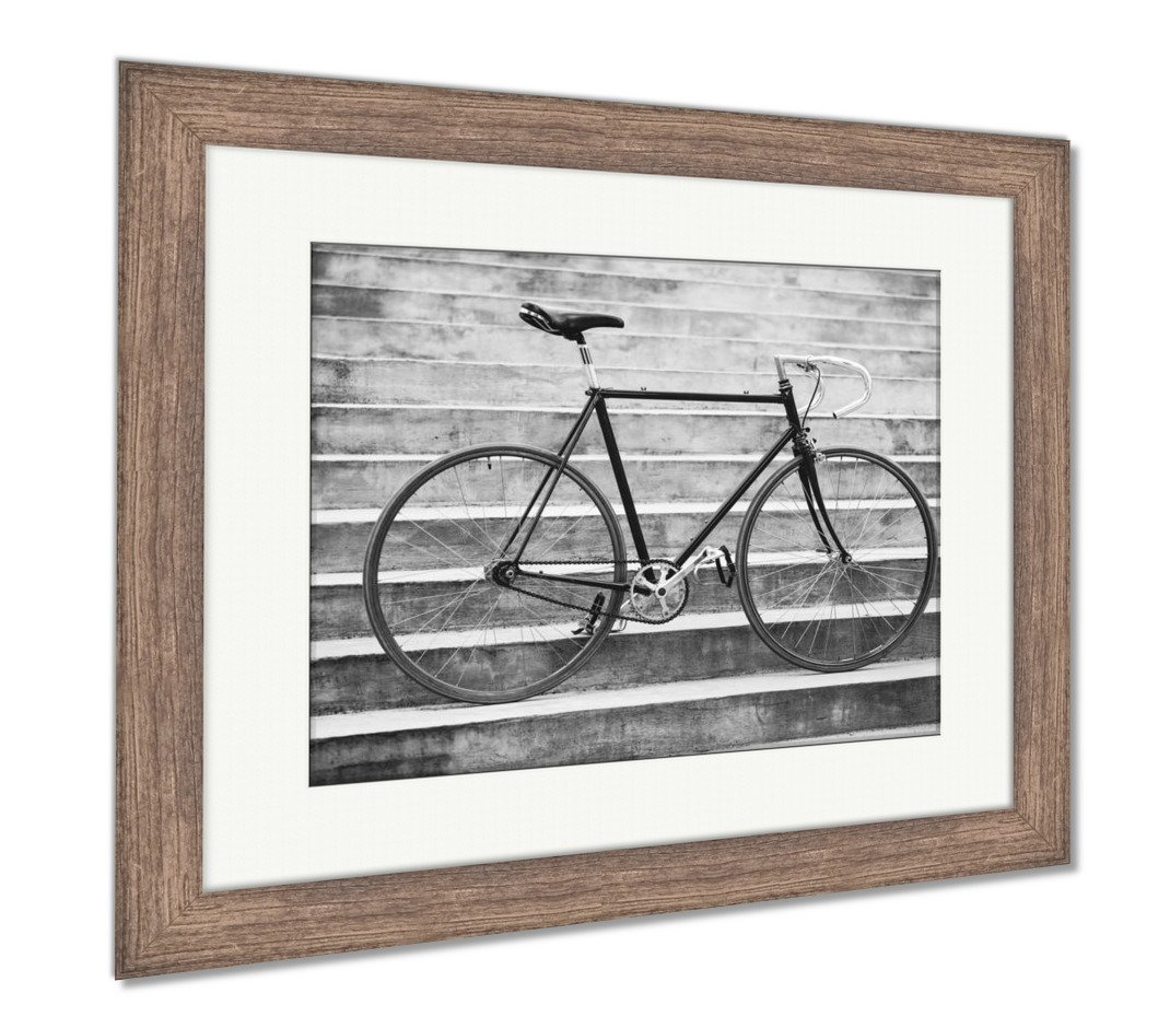 Amazon.com: Ashley Framed Prints Road Retro Bicycle And Concrete ...