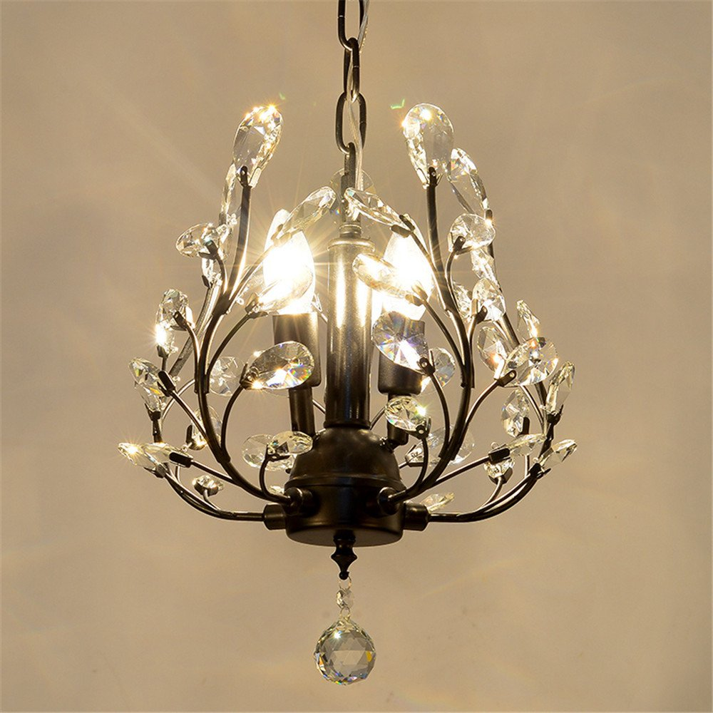 Modern LED Pendant Flush Mount Ceiling Fixtures Light American style off hanging crystal lamp chandelier hall creative light retro tree crystal lamp, 330 h370mm