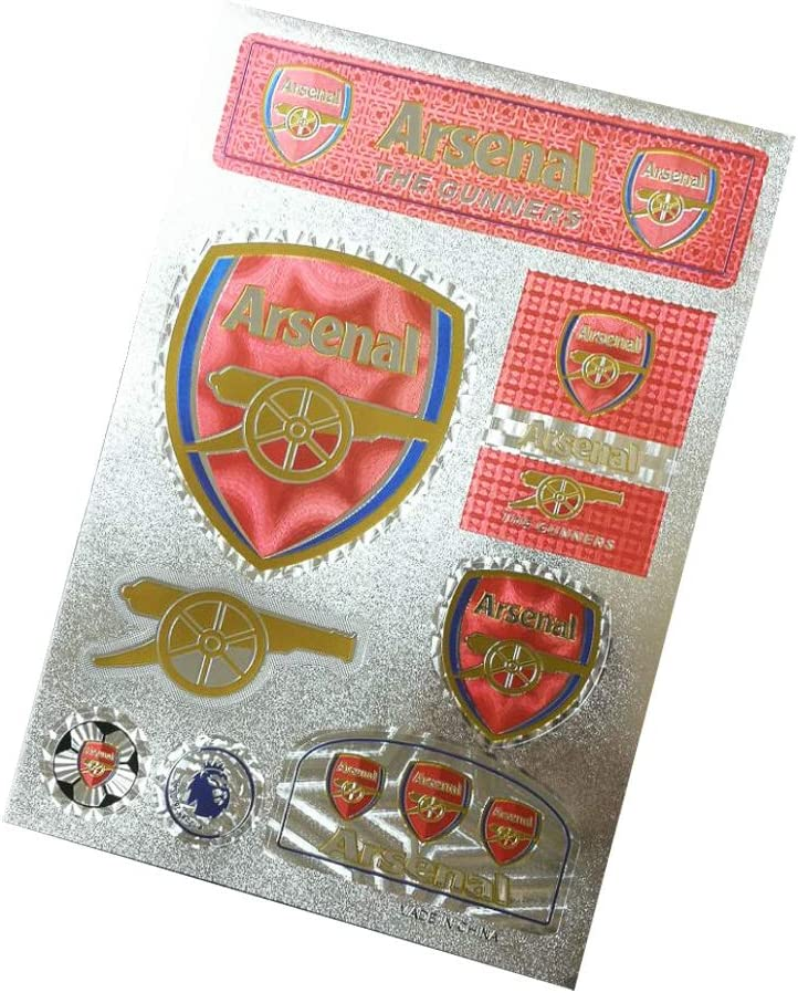 Football Club Soccer Team Logo Stickers Car Glass/Wall/Laptop/Favorite Items Sticker Decal (New Arsenal, 7.5-10.6 inch)