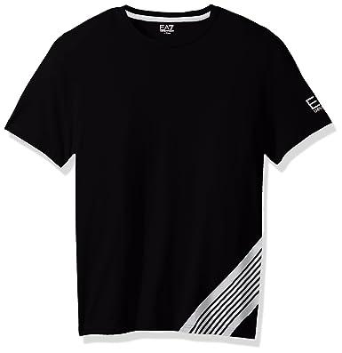 03fa9e7d Amazon.com: EA7 Emporio Armani Active Men's Train 7 Lines Crew Neck T-Shirt:  Clothing