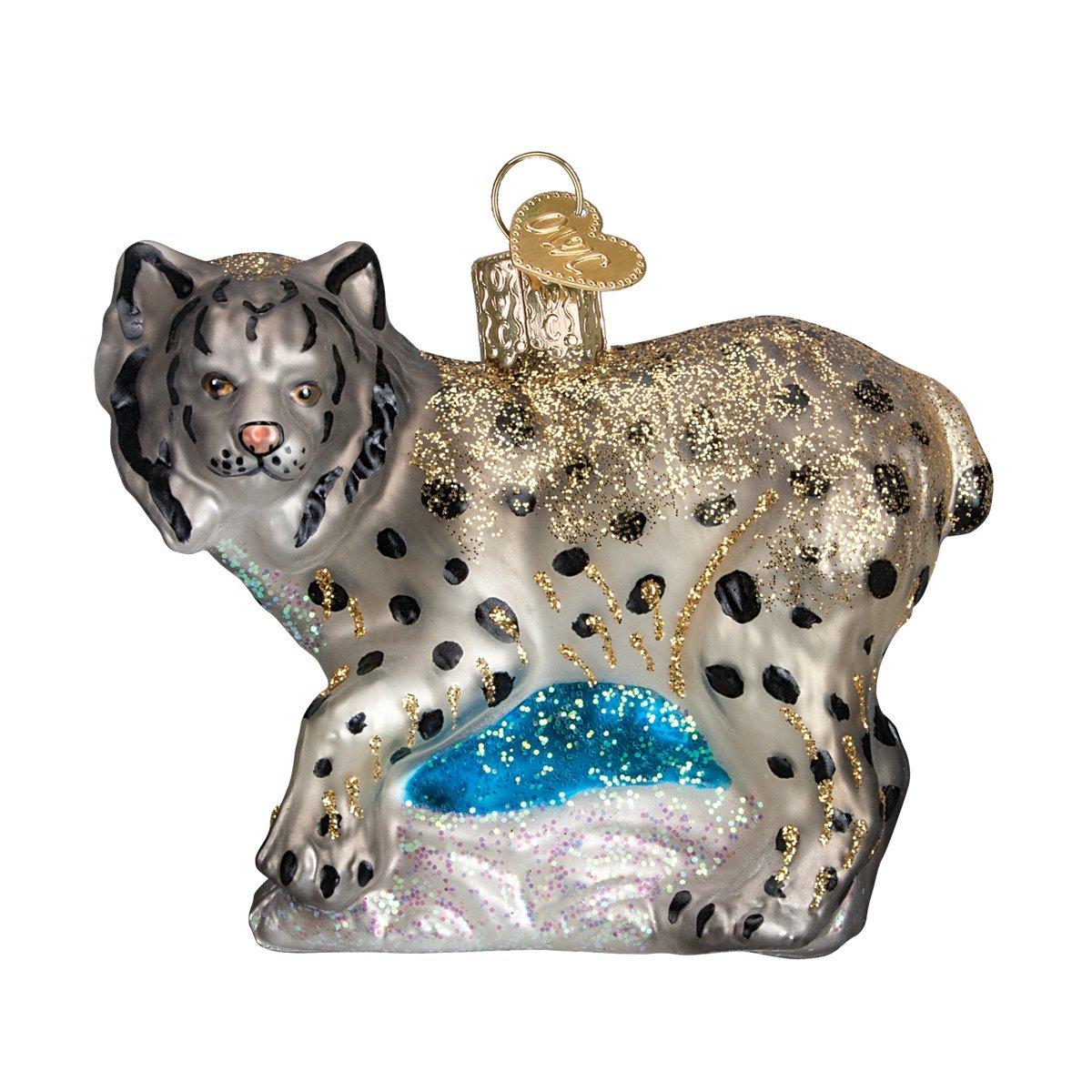 Old World Christmas Lynx Glass Blown Ornament