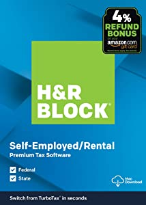 H&R Block Tax Software Premium 2019with 4% Refund Bonus Offer [Amazon Exclusive] [Mac Download]