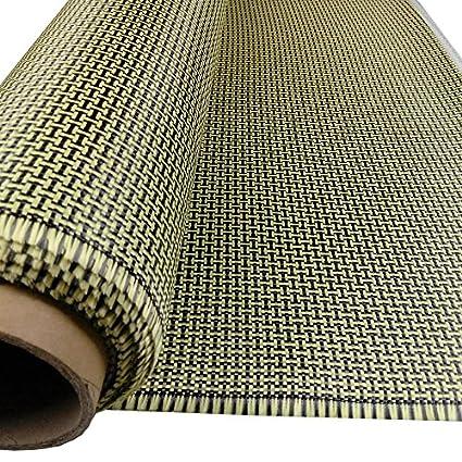 11 Yard 200g H Pattern Carbon Fiber Aramid Cloth Hybrid for Boat