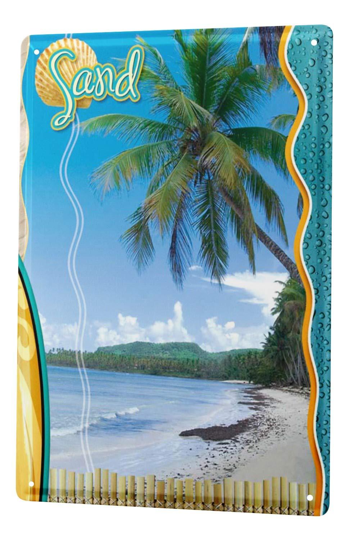 Cartel de chapa Placa metal tin sign Gira Mundial Playa ...