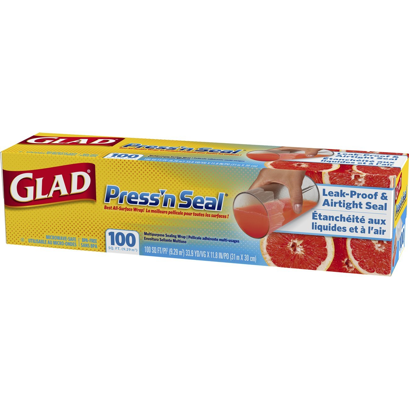 Plastik Wrapping Pure Fresh 30cm Daftar Harga Terkini Dan Atau Buah 300m Stretch Film Amazoncom Glad Pressn Seal Plastic Food Wrap 100 Square Foot