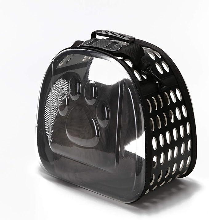 ZINRK 180 ° Transparente Bolsa del Animal doméstico, Bolso del Perro de Perrito del Gato portátil for Perro Conejo Jaula de Transporte Antideslizante Base panorámica y Transparente Diseño Poroso