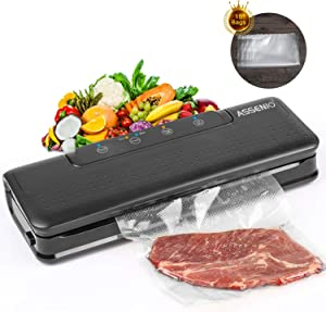 Vacuum Sealer, Automatic Vacuum Air Sealing System For Food Preservation, with Dry & Moist Sealing Modes, LED Indicator Lights, Easy Use, 2019 new Model
