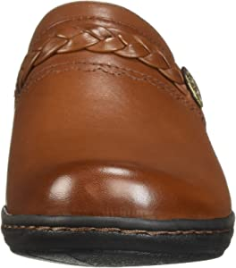 301f929d681 Amazon.com | CLARKS Women's Leisa Carly Clog, Dark tan Leather, 050 ...